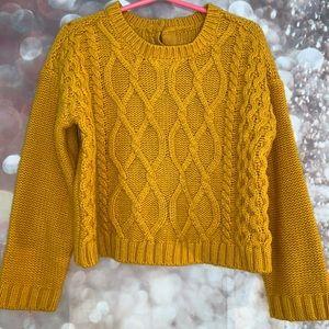mustard yellow toddler sweater